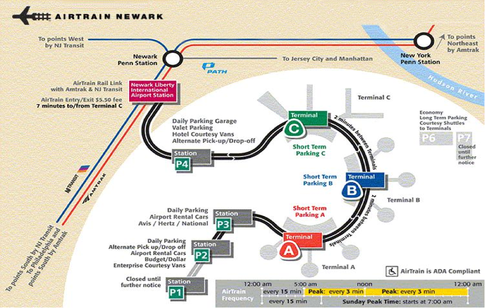 Newark Airport Map