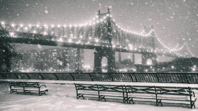 Нью-Йорк в снегу