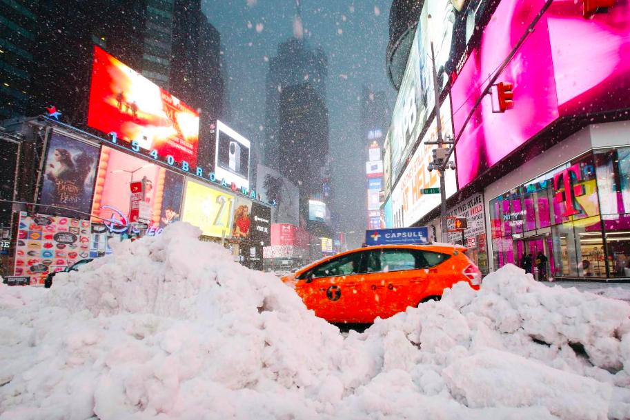 Снег в Нью-Йорке 1