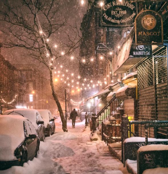 Снег в Нью-Йорке 3