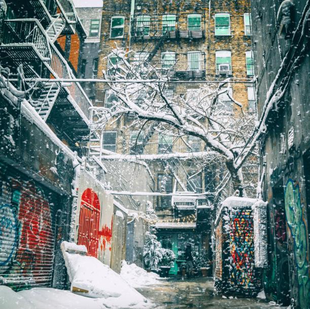 Снег в Нью-Йорке 4