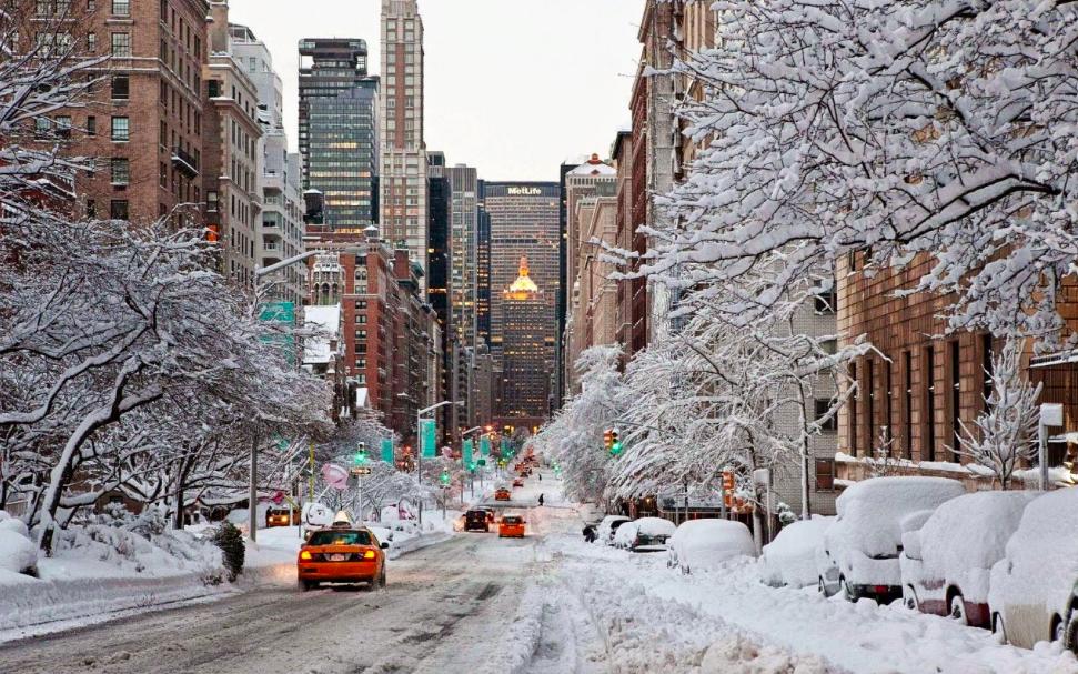 Снег в Нью-Йорке 7