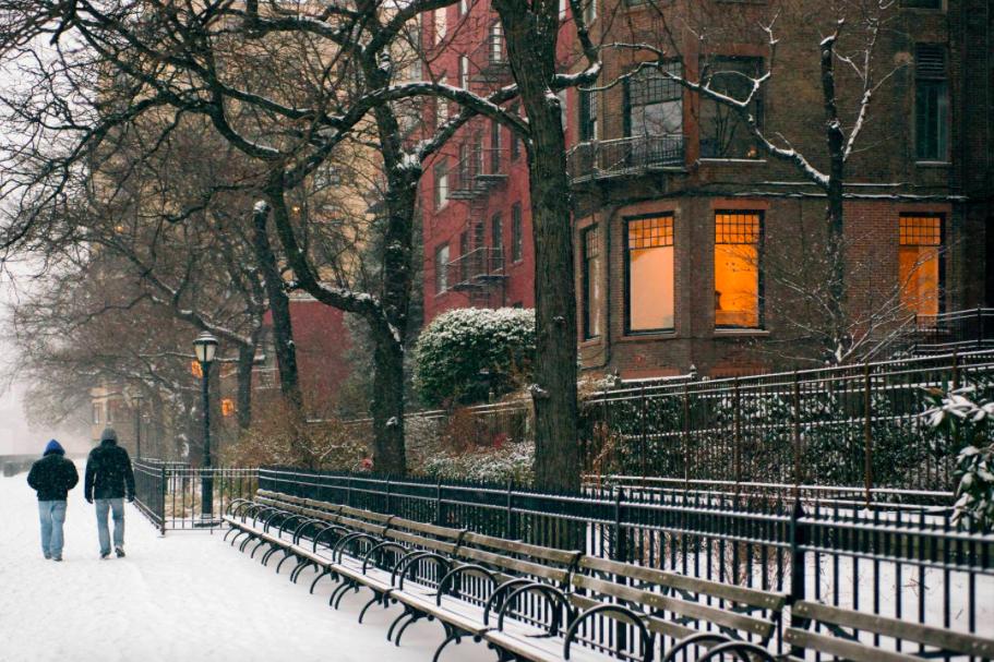 Снег в Нью-Йорке 9