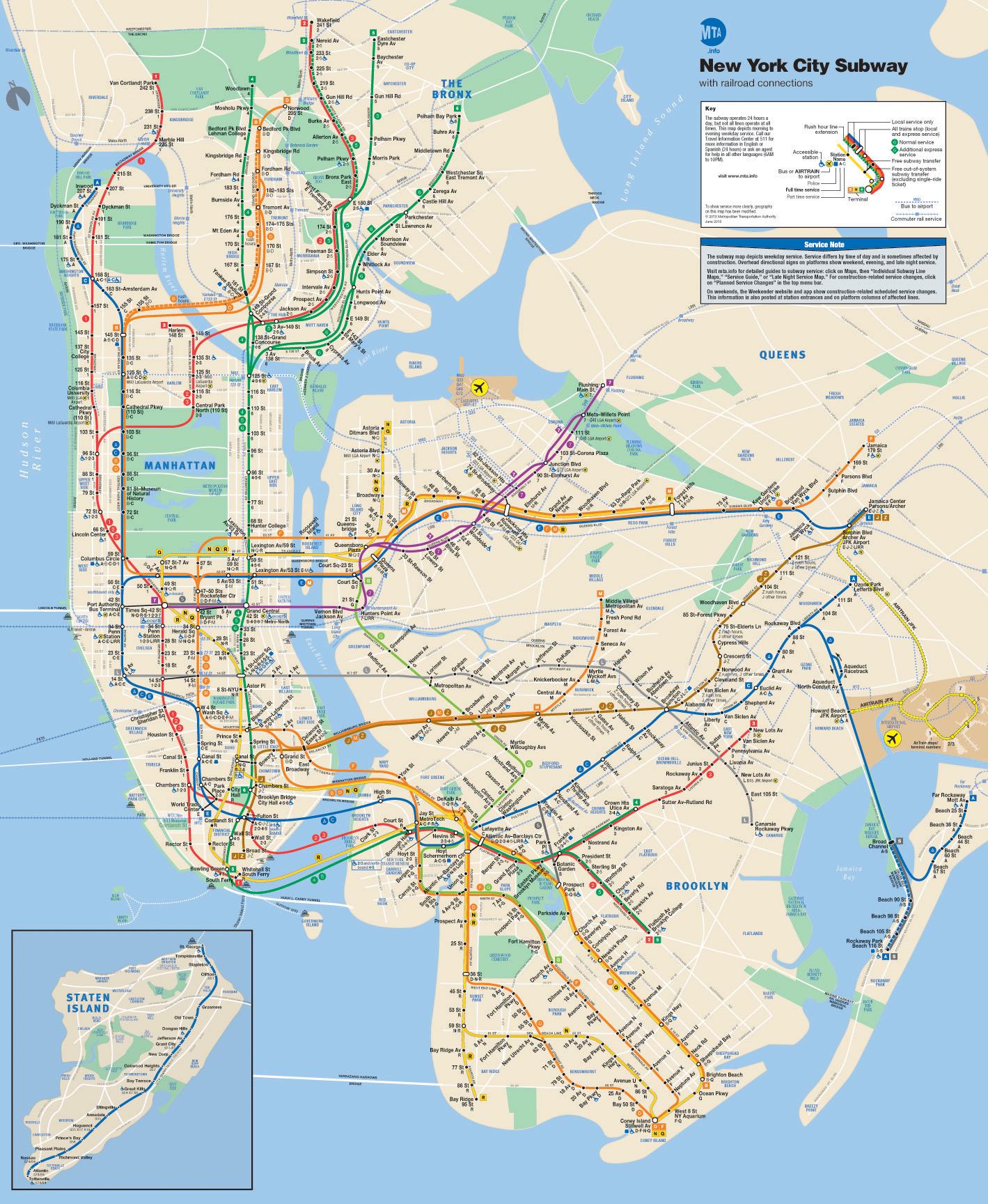 Схема метрополитена нью йорка фото 755