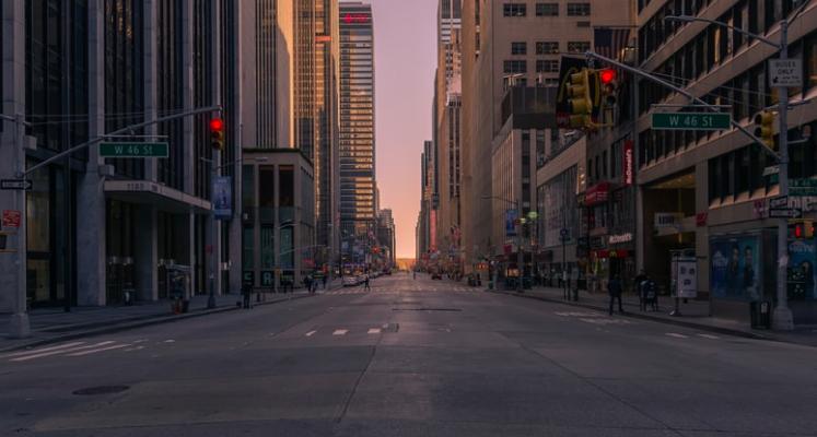Пустые улицы Нью-Йорка-1