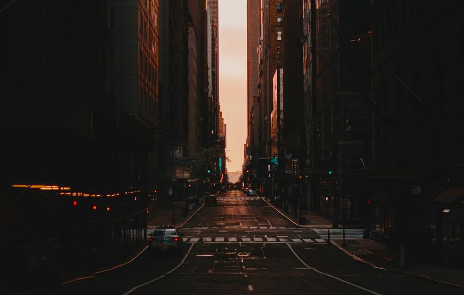 Пустые улицы Нью-Йорка-3