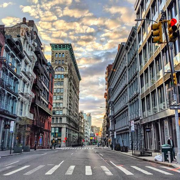 Пустые улицы Нью-Йорка-4